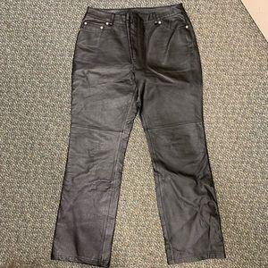 Newport News Jeanology leather pants size 10